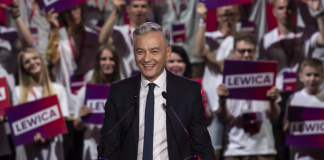 Robert Biedroń during the Polish parliamentary elections 2019