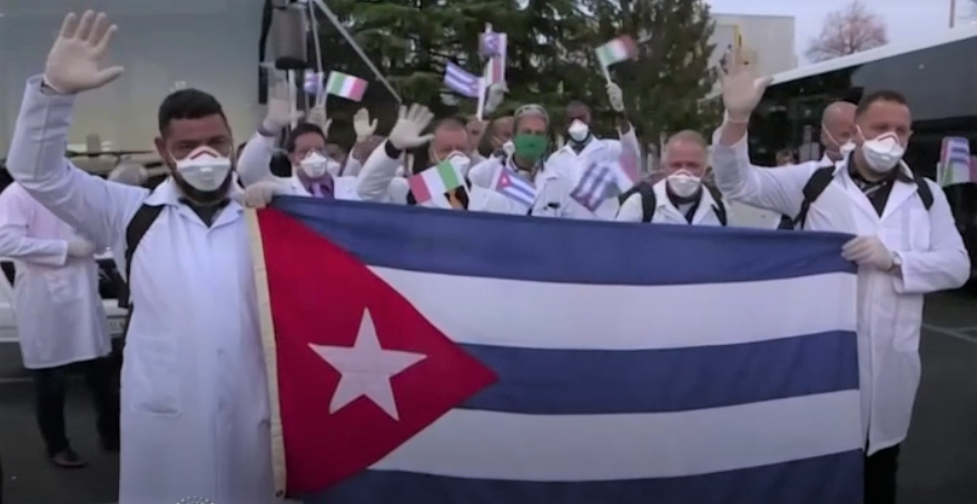 Cuban doctors landed in Milan
