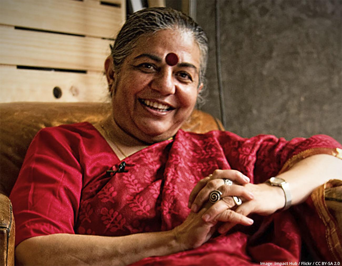 Vandana Shiva fights dependence on patented seeds, Monsanto & Co.