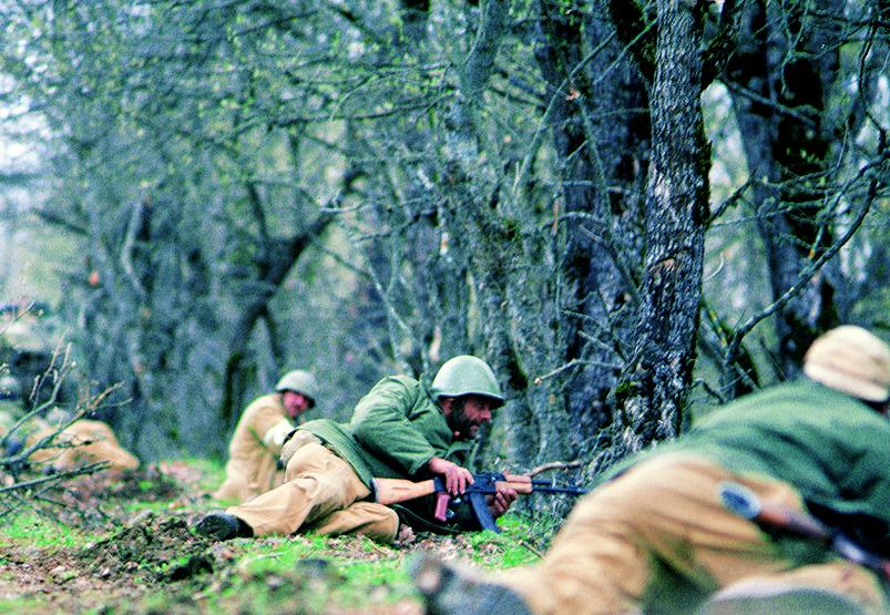 Nagorno-Karabakh soldiers at war