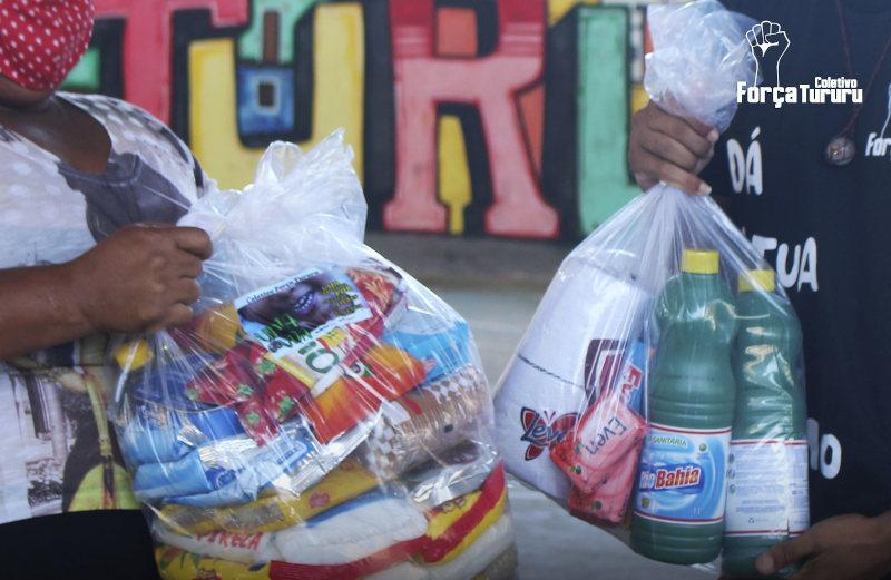 #TemGenteComFome - Civil society is collecting donations (Photo: Coletivo Força Tururu)